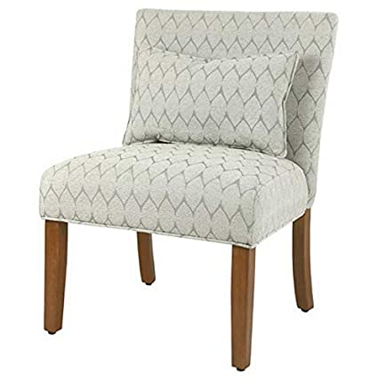 Amazon.com: Hebel Parker Cream Accent Chair with Pillow ...