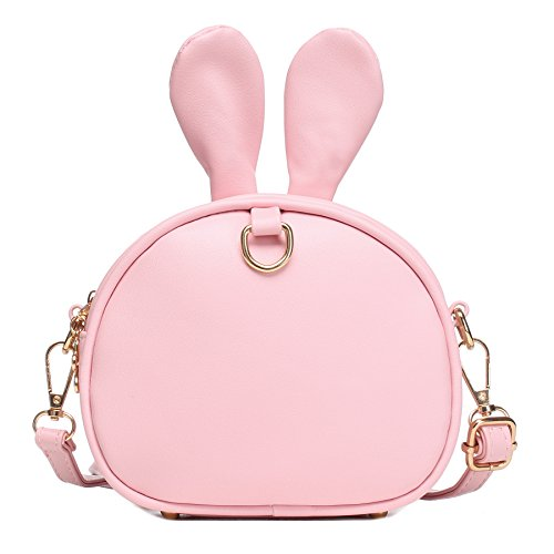 CMK Trendy Kids My First Purse for Toddler Kids Girls Cute Shoulder Bag Messenger Bags with Bunny Ear Novelty Birthday Gift (82011_Pink) by CMK Trendy Kids (Image #5)