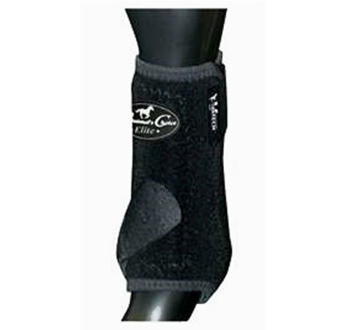 Professionals Choice Equine Sports Medicine Ventech Elite Front Leg Boot, Pair (Large, Black) by Professional's Choice