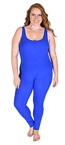 Stretch is Comfort Women's Plus Size Nylon Unitards Royal Blue X-Large
