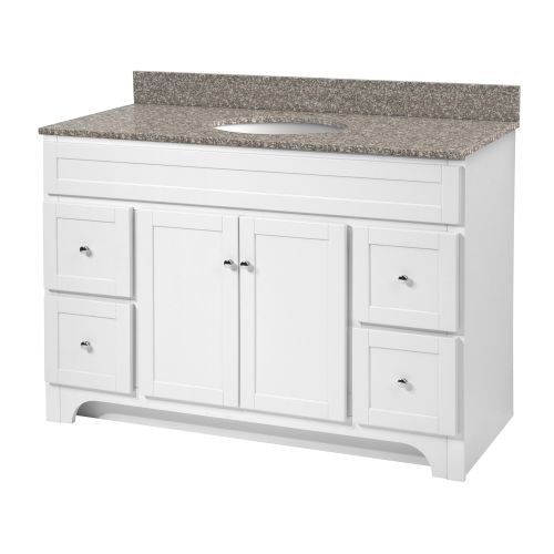 Foremost Chrome Vanity - Foremost WRWA4821D Worthington 48-Inch White Bathroom Vanity