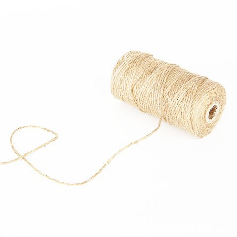 Grekywin Natural Jute Twine for DIY Crafts, Festive Decoration and Materials Packing, Gardening Applications, 328 Feet
