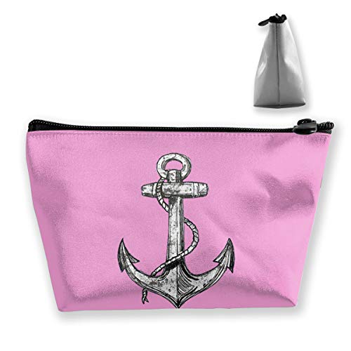 Anchor Pirate Makeup Bag Case, Women's Multifunction Portable Travel Bags Toiletry Bag Makeup Pouch Case Organizer