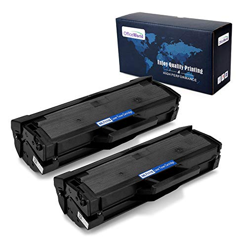 OfficeWorld Compatible Toner Cartridge Replacement for Samsung 111S 111L MLT-D111S MLT-D111L ( Black , 2 Packs ), Compatible with Samsung Xpress SL-M2020W SL-M2020 SL-2022FW SL-2070FW SL-2070W