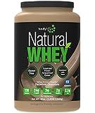 Bodylogix Natural Whey Protein Nutrition Shake, Natural Dark Chocolate, 1.85 Pound