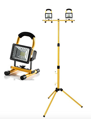 Tré pied pour projecteur de chantier 2X LED Projecteur 400W halogè ne sur tré pied Witss