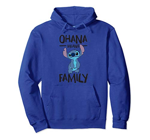 Disney Stitch Ohana Means Family Pullover Hoodie