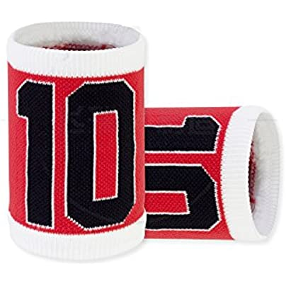 Sports Wristbands Cotton Digital Pattern Red Towel Wristguards for Basketball Soccer Jogging Fitness Men Women Kids Estimated Price £15.26 -