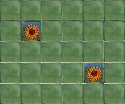 Fine Crafts Imports 2x2 36 pcs Green Talavera Mexican Tile by Fine Crafts Imports (Image #1)