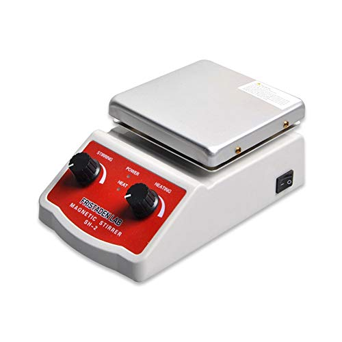 Fristaden Lab SH-2 Magnetic Stirrer Hot Plate Mixer | 100~1600rpm Stirring Speed | 350°C Temperature | 2,000mL Capacity | 1 Year Warranty | Lab Quality Hot Plate Stirrer for Liquid Heating and Mixing