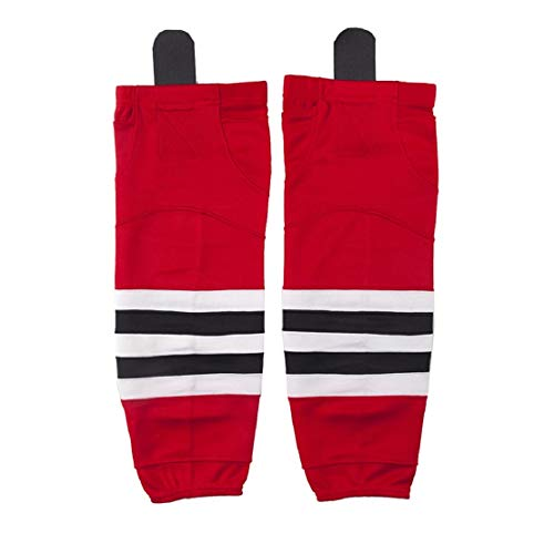 COLDINDOOR Ice Hockey Socks Kids, Boy Youth School Team Game Practice Hockey Socks Junior Red XS