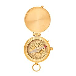 Thanksgiving Gifts Pocket Compass for Office Desk Accessories Camping