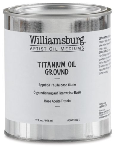 Williamsburg Artist Oil Mediums - Titanium Oil Ground - 32 oz Can by Williamsburg
