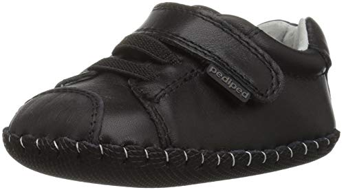 pediped Boys' Jake Crib Shoe, Black, 0-6 Months Child EU Infant (0-6 Months US)