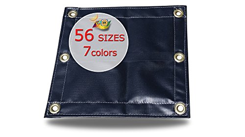 - 12X20 22oz Heavy Duty Vinyl Tarp -Waterproof, Rip-Stop, Puncture and Chemical Resistant
