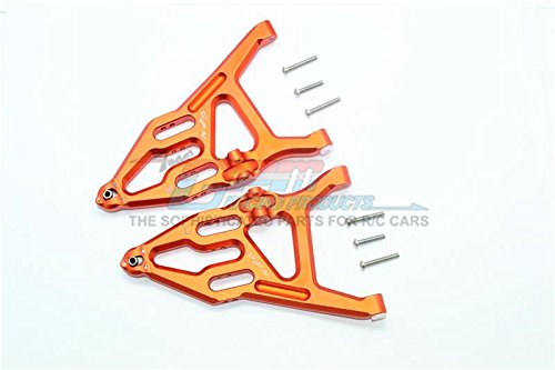 GPM Traxxas Unlimited Desert Racer 4X4 (#85076-4) Upgrade Parts Aluminum Front Lower Suspension Arm - 1Pr Set Orange