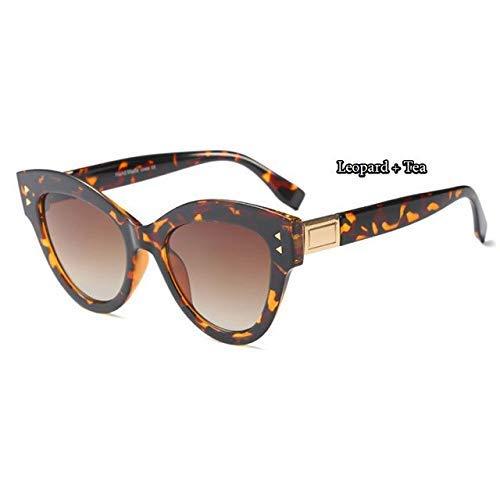 GFF 45568 Cat Eye Sunglasses Women Vintage Rivet Frame Round Brand Glasses Designer Fashion Male ()