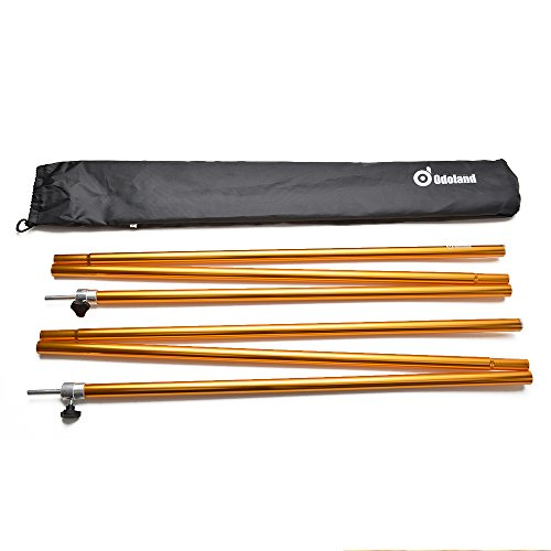 Adjustable Tent Poles, Telescoping Aluminum Tarp and Tent Poles, Collapsible Lightweight Poles for Camping, Backpacking, Hammocks, Shelters, and Awnings