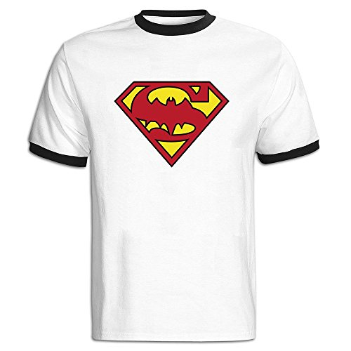 Men's Superman Batman Logo Baseball T-shirt