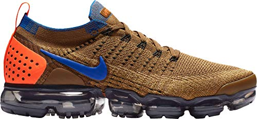 Nike Men's Air Vapormax Flyknit 2 Running Shoes (9, Orange/Blue)
