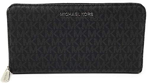 Michael Kors Jet Set Travel Zip Around Travel Wallet (Black)