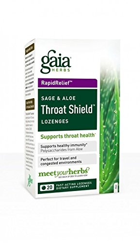 (GAIA HERBS Throat Shield Lozenges, 0.17 Pound)