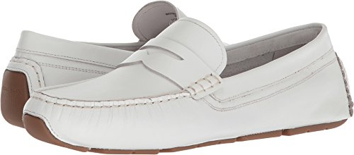 Cole Haan Womens Rodeo Penny Driver White Leather 8 B - - Cole Driving Shoes Women Haan