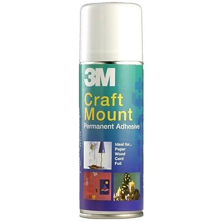 3M CraftMount YP208060159 Spray Permanent Adhesive - 200 ml, transparent