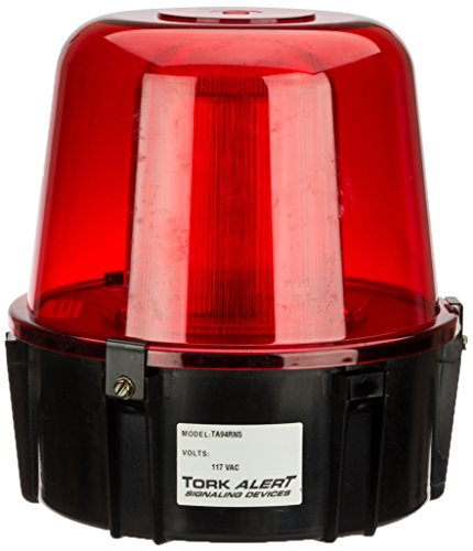 Electronic Strobe, Warning Light, 117VAC, For Outdoor, Red by NSI
