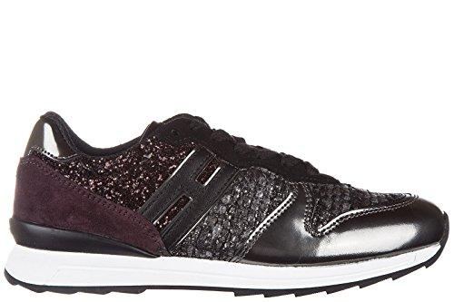 Hogan Rebel scarpe sneakers bambina pelle nuove r261 allacciato argento