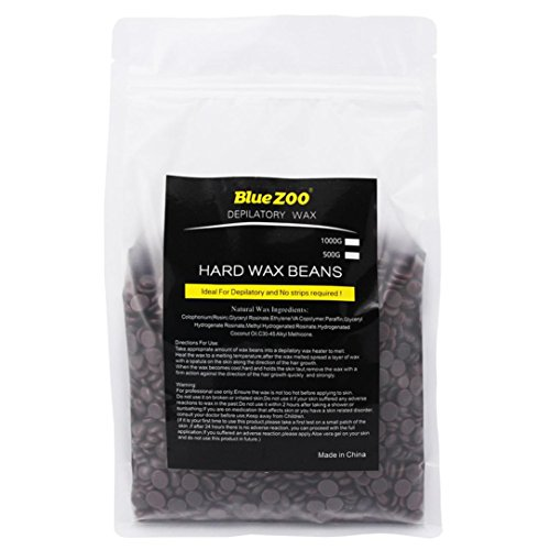 1000g Big Natural Hard Wax Beans, Leoy88 Hair Removal Hard Body European Waxing Beans, Brazilian Pearl Hard Wax Beads (Chocalate)
