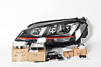 Original VW Golf Mk7 2013- GTI - Faro LED DRL UE + bombillas y módulos izquierda: Amazon.es: Coche y moto