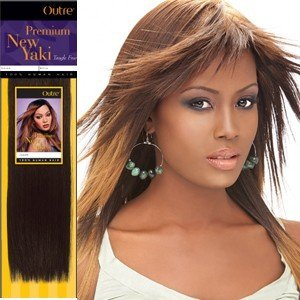 Outre Premium Human Hair New Yaki Weaving Hair Extension (10