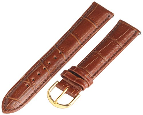 Voguestrap TX45318HN Allstrap 18mm Honey Regular-Length Crocodile-Embossed Leather Watch Band
