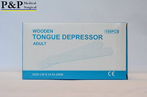 TOUNGE DEPRESSORS ( 12 BOXES = 1200 PCS ) MADE OF HIGH GRADE BIRCH, WOODEN CRAFT STICKS by P&P Medical Surgical (Image #2)