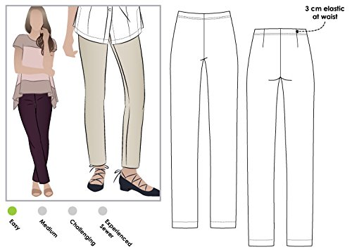 Sewing Pants - Style Arc Sewing Pattern - Margaret Stretch Woven Pant (Sizes 04-16) - Click for Other Sizes Available