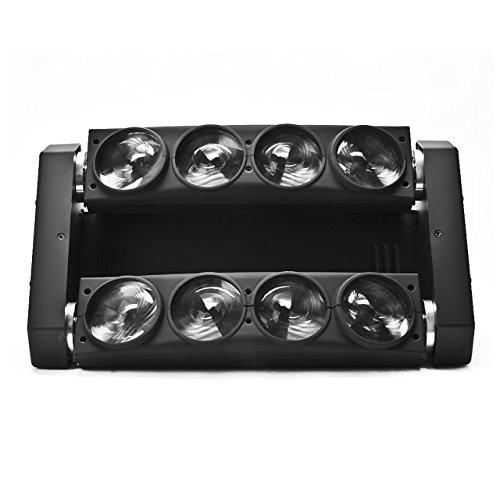 Eyourlife 8x10w 4 in 1 Par LED Spider Moving Head Light RGBW DMX 512 Stage Disco Lighting by Eyourlife