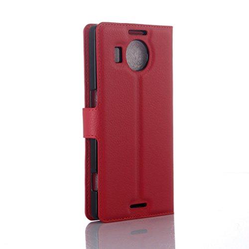 Funda Microsoft Nokia lumia 950XL,Manyip Caja del teléfono del cuero,Protector de Pantalla de Slim Case Estilo Billetera con Ranuras para Tarjetas, Soporte Plegable, Cierre Magnético(JFC7-7) I