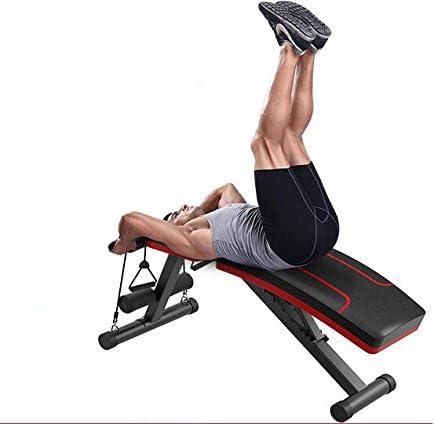 Banco de musculación plegable, de la marca SZ5CGJMY, sistema para entrenar los abdominales, banco reclinable para gimnasio