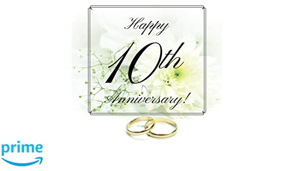 Happy 10th Anniversary Guest Book Free Layout Message Book For