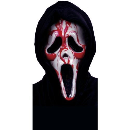 Scream Mask Dripping Blood -