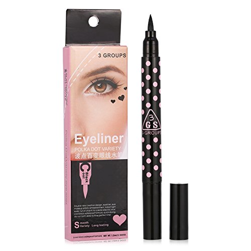 Non-smudge Wing Eyeliner Stamp Liquid Eye Liner Stick Double-headed Makeup Pencil 2 Types (Heart)
