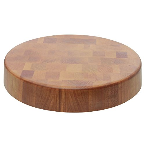- Display Riser Round Melamine and Bamboo -12