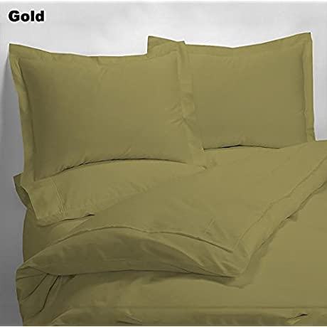 Luxury 600 Thread Counts 7pc Bed In A Bag With 500GSM Comforter Expanded Queen Super Queen Size Gold Solid 100 Egyptian Cotton By PARADISEHOUSE