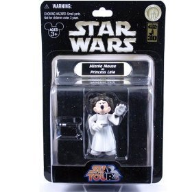 Star Tours Wars Minnie Mouse as Princess Leia Figure