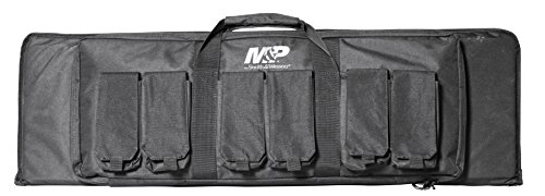 Smith & Wesson M&P Pro Tac Padded Rifle Case with Ballistic Fabric Construction and External Pockets for Shooting, Range, Storage and Transport, 42