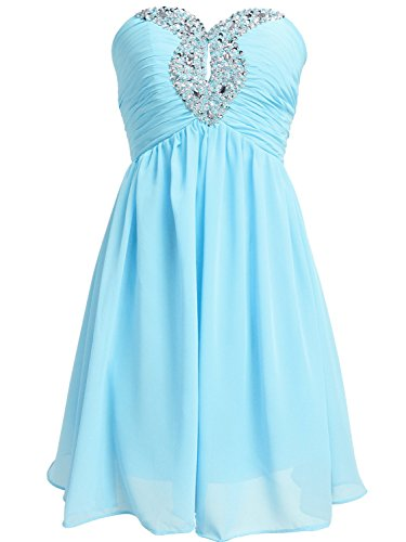 Buy light blue ruffle dress - 5