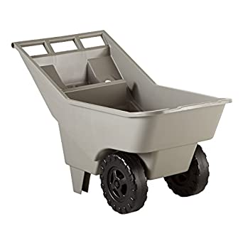 rubbermaid commercial fg370712907 325cubic foot roughneck lawn cart pallet platinum
