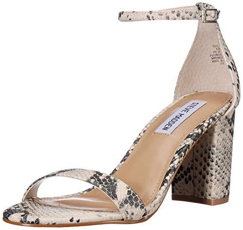 Steve Madden Women's DECLAIR Sandal, Natural Snake, 8 M US