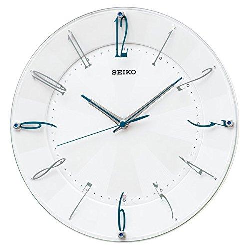 (セイコークロック) SEIKO CLOCK スタンダード 電波 壁掛け時計 KX214W 連続秒針 白パール アナログ B01HJSECAE
